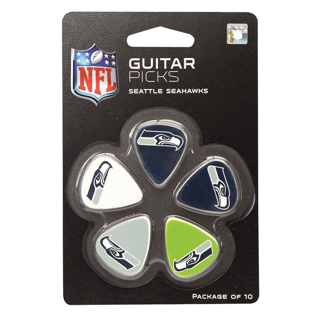 Seattle Seahawks Official NFL Guitar Picks - Pack of 10