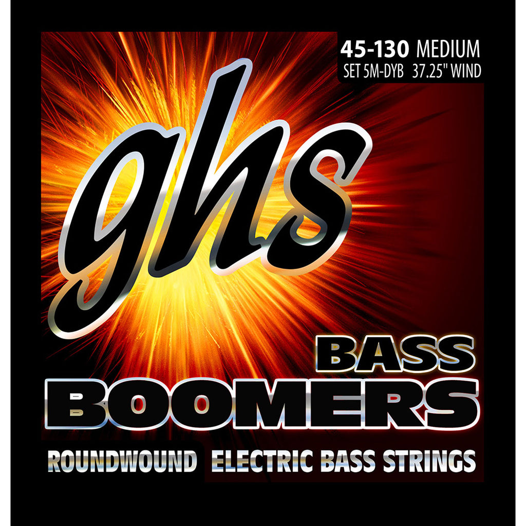 GHS 5M-DYB 5-String Medium 45-130 Roundwound Bass Guitar Strings