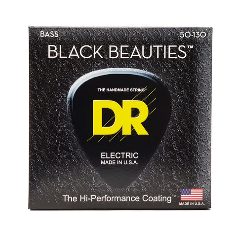DR BKB5-50/130 Black Beauties 5-String Medium Bass Guitar Strings