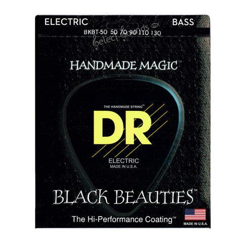 DR BKBT-50/130 Tapered Black Beauties 5-String Bass Guitar Strings