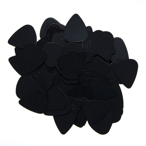"72 Tumbled Delrin Medium (0.73mm) ""351"" Black Guitar Picks"