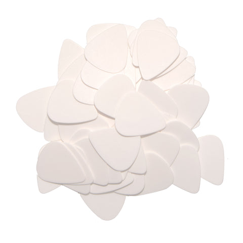 "72 Tumbled Delrin Medium (0.73mm) ""351"" White Guitar Picks"