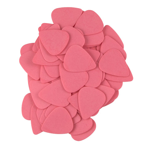 "72 Tumbled Delrin Medium (0.73mm) ""351"" Tumbled Pink Guitar Picks"