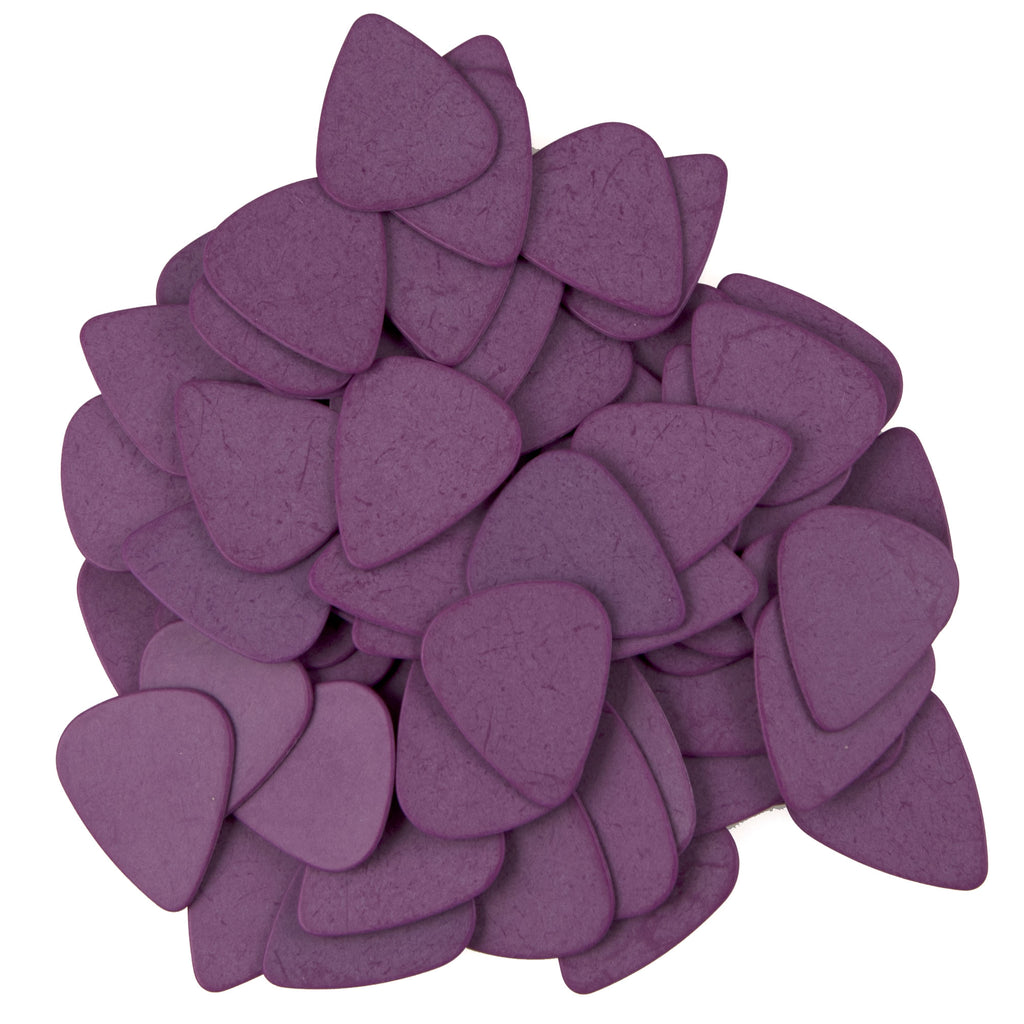 "72 Tumbled Delrin Thick (1.14mm) ""351"" Purple Guitar Picks"