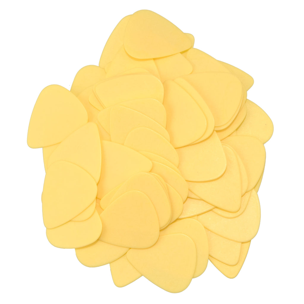 "72 Tumbled Delrin Medium (0.73mm) ""351"" Yellow Guitar Picks"