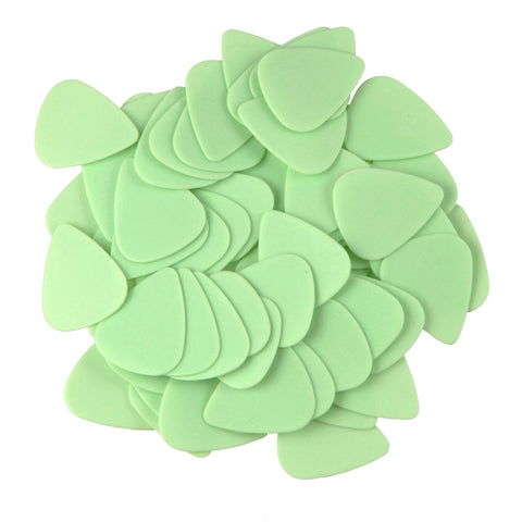 "72 Tumbled Delrin Medium (0.88mm) ""351"" Green Guitar Picks"