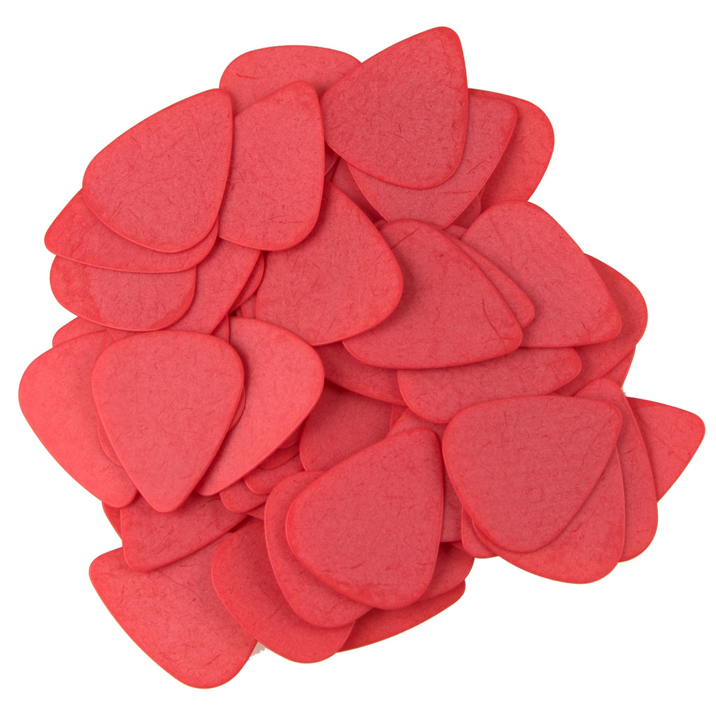"72 Tumbled Delrin Thin (0.50mm) ""351"" Red Guitar Picks"