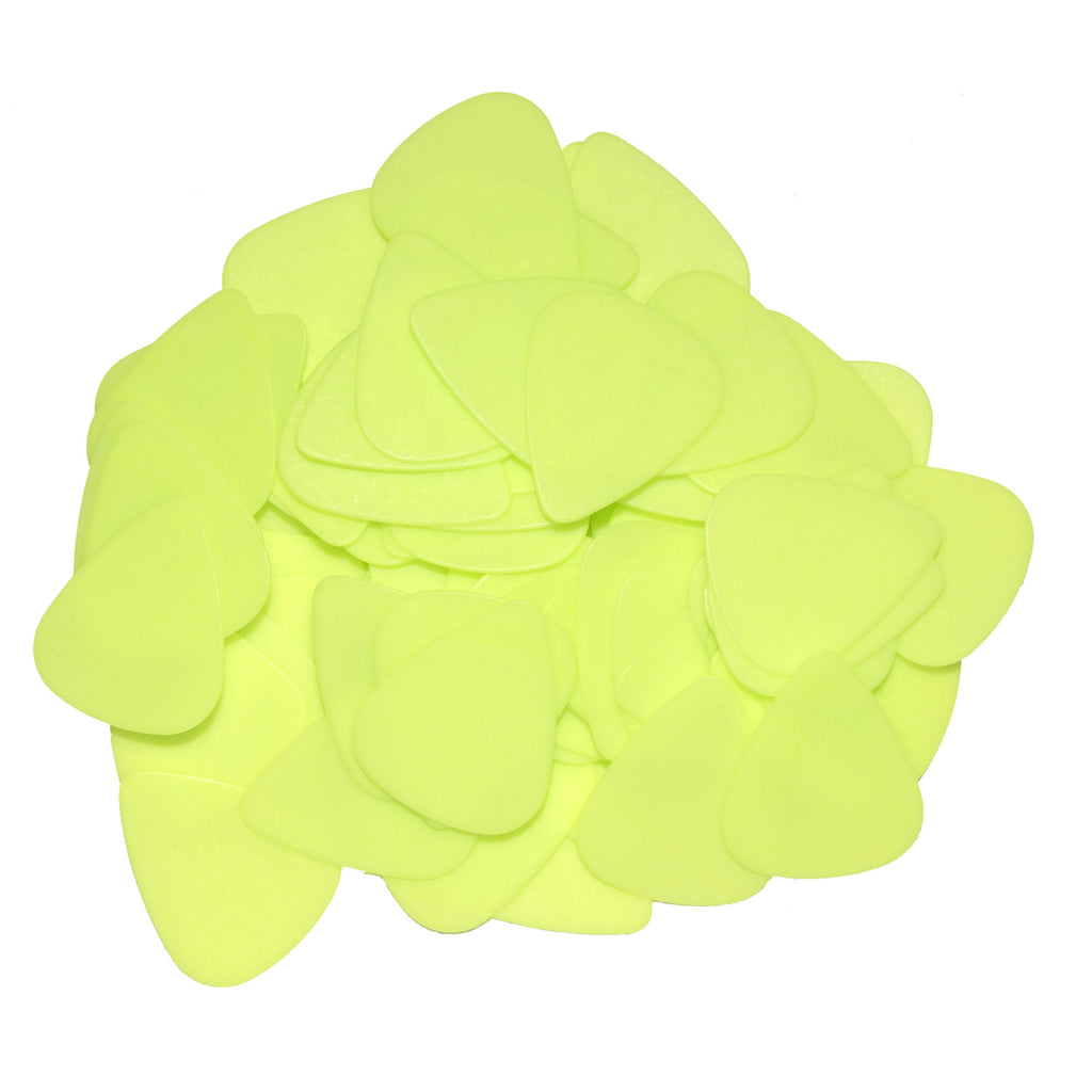 "72 Tumbled Delrin Medium (0.73mm) ""351"" Neon Green Guitar Picks"