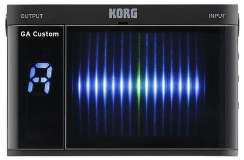 Korg GA-CS Custom Black Guitar & Bass Chromatic Tuner