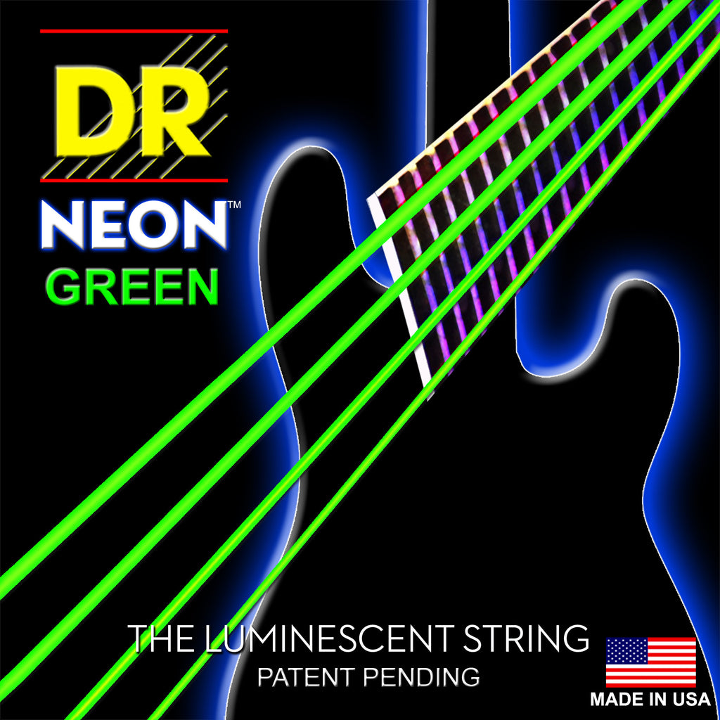 DR Strings NGB-45 Neon Hi-Def Green 4 String Medium 45-105 Bass Guitar Strings