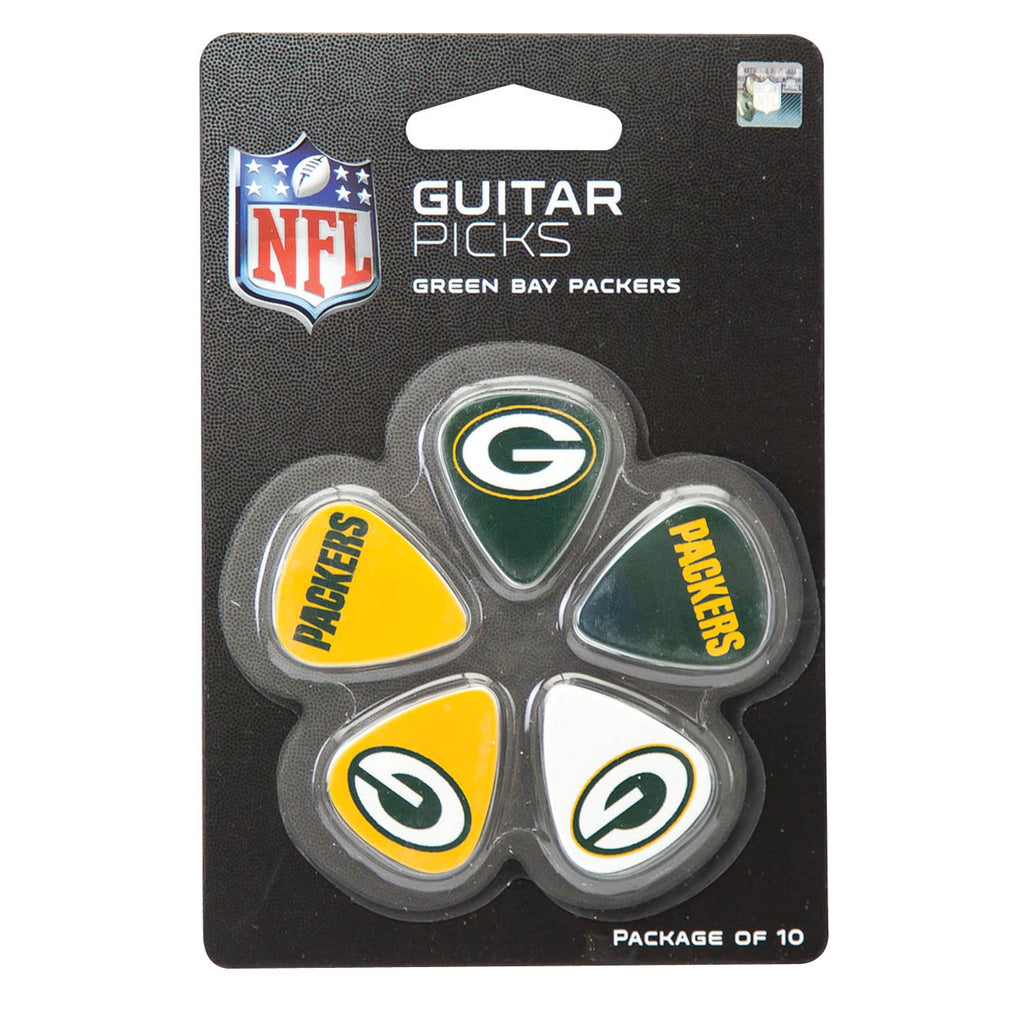 Green Bay Packers Guitar Picks - Pack of 10