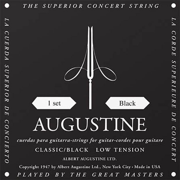 Augustine Classic Black Regular Tension Trebles / Light Tension Basses