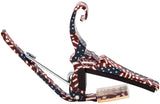 Kyser KG6FA Stars & Stripes American Freedom Green Quick Change Guitar Capo