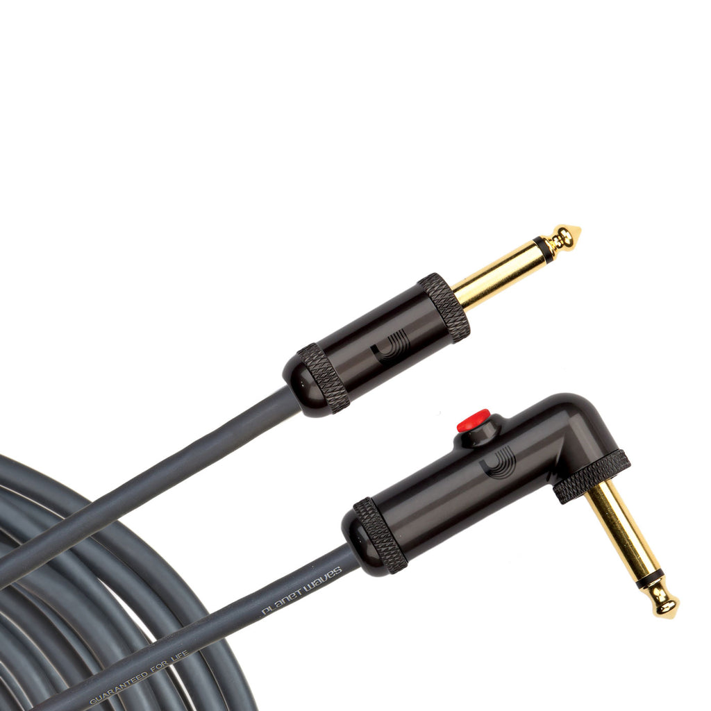 10' D'Addario AGLRA-10 Circuit Breaker Latching Cable Right-Angle End