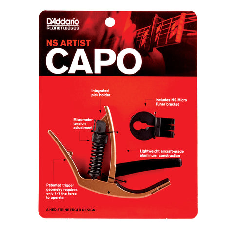 D'Addario PW-CP-10MBR NS Artist Capo - Metallic Bronze Finish