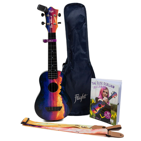 Flight TUS-EE Sunset Elise Ecklund Signature Travel Soprano Ukulele Kit