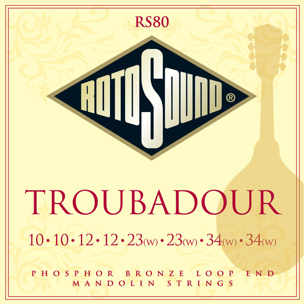 Rotosound RS80 Light 10-34 Phosphor Bronze Mandolin Strings