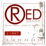 Everly 7312 RED 80/20 Bronze Light 12-53 Copper Bronze Acoustic Strings