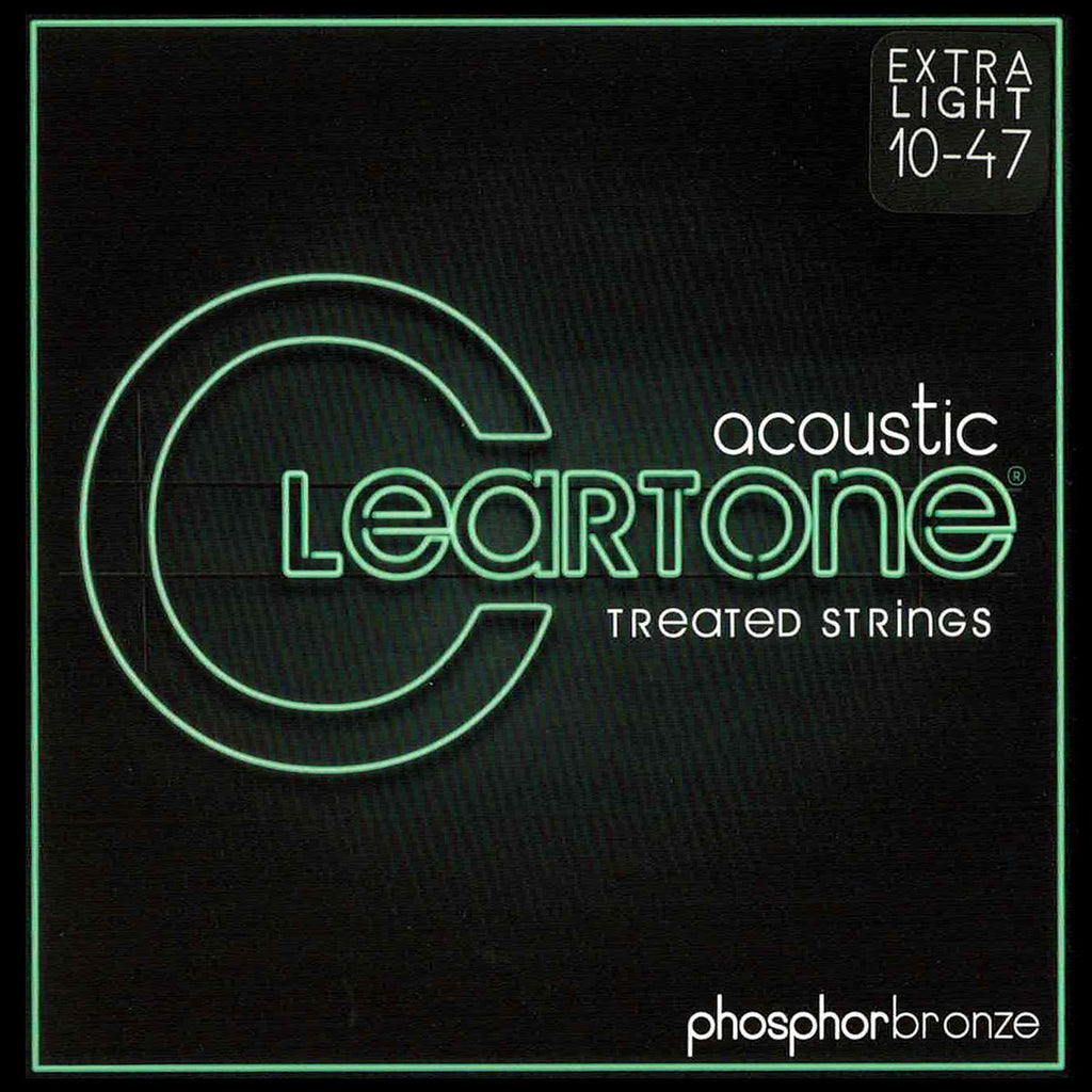 Cleartone 7410 Acoustic Guitar Strings, Phosphor Bronze, Extra Light, 10-47