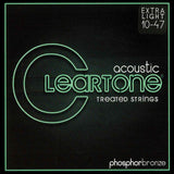 Buy 2 Get 1 FREE Cleartone 7410 Acoustic Phosphor Bronze Extra Light 10-47 Strings