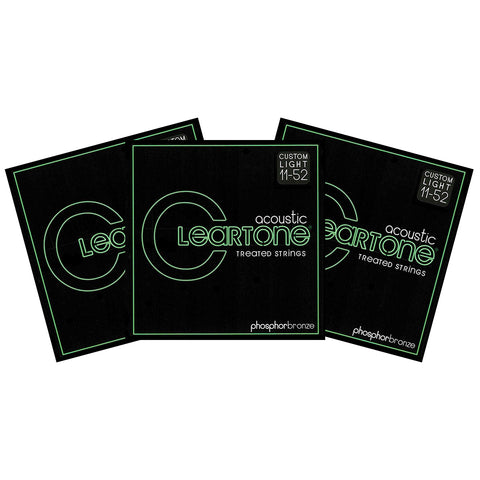 Buy 2 Get 1 FREE Cleartone 7411 Acoustic Light 11-52 Strings