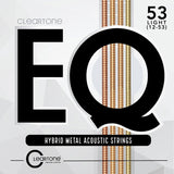 Buy 2 Get 1 FREE Cleartone 7812 EQ Acoustic Hybrid Metal Light (12-53) Guitar Strings