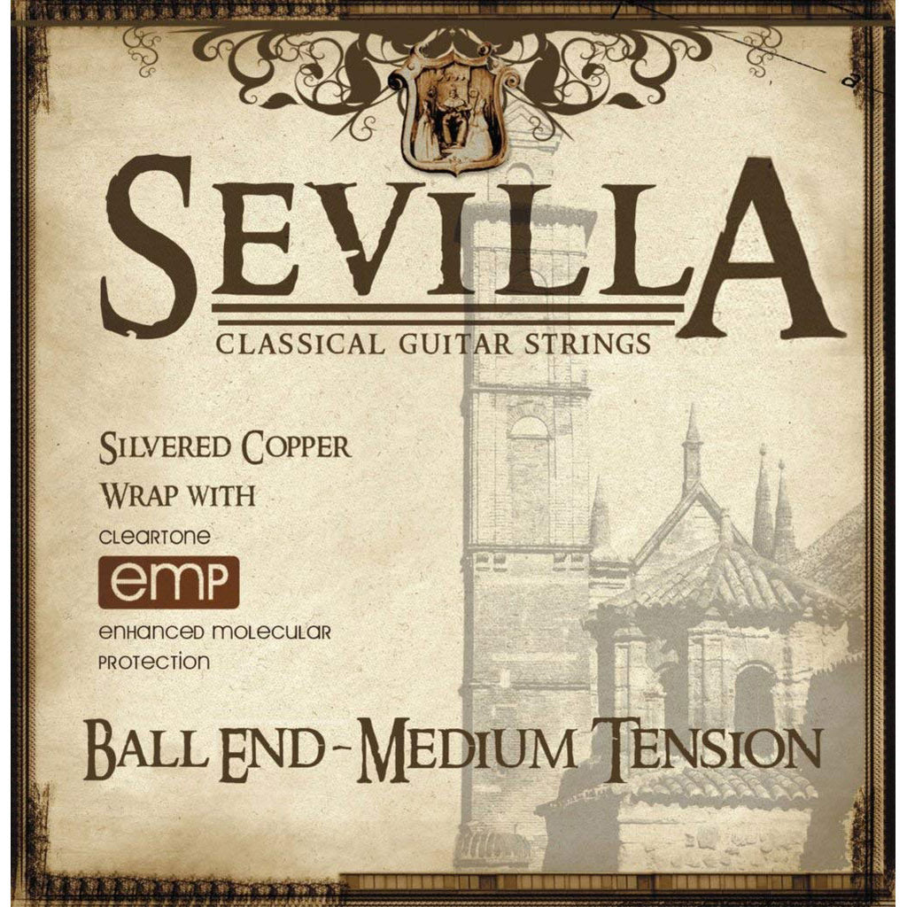 Cleartone Sevilla 8442 Classical Strings Ball End Medium Tension