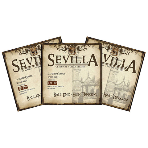 Buy 2 Get 3 Cleartone Sevilla 8452 Ball End High Tension Classical Strings