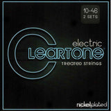 2 Pack Cleartone 9410 Nickel Plated Light 10-46 Electric Strings - SPECIAL PRICE