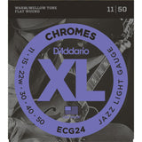 D'Addario ECG24 Chromes Flatwound, Jazz Light, 11-50 Electric Guitar Strings
