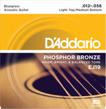 D'Addario EJ19 Phosphor Bronze, Bluegrass, 12-56, Acoustic Guitar Strings