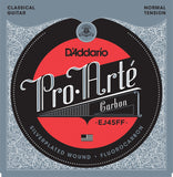 D'Addario EJ45FF Pro Arte Carbon, Dynacore Basses, Normal Tension, 24-44, Classical Guitar Strings