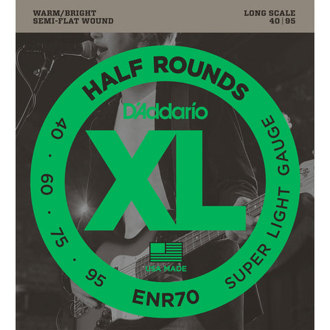 D'Addario ENR70 Half Rounds Super Light 40-95 Long Scale Bass Strings