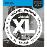 D'Addario EXL148 Nickel Wound, Extra Heavy, 12-60