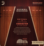 D'Addario NB1356 Nickel Bronze Acoustic Medium 13-56 Long-Life Strings
