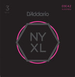 D'Addario NYXL 9-42 3-Pack Nickel Wound Super Light