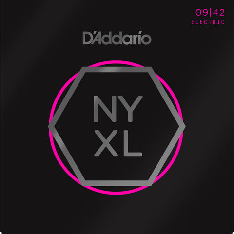 D'Addario NYXL 9-42 Nickel Wound Super Light Gauge Strings
