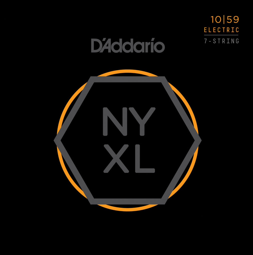 D'Addario NYXL Nickel Wound, 7-String, Regular Light, 10-59