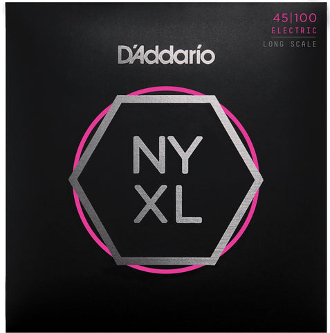 D'Addario NYXL45100 Long Scale Regular Light 45-100 Bass Strings