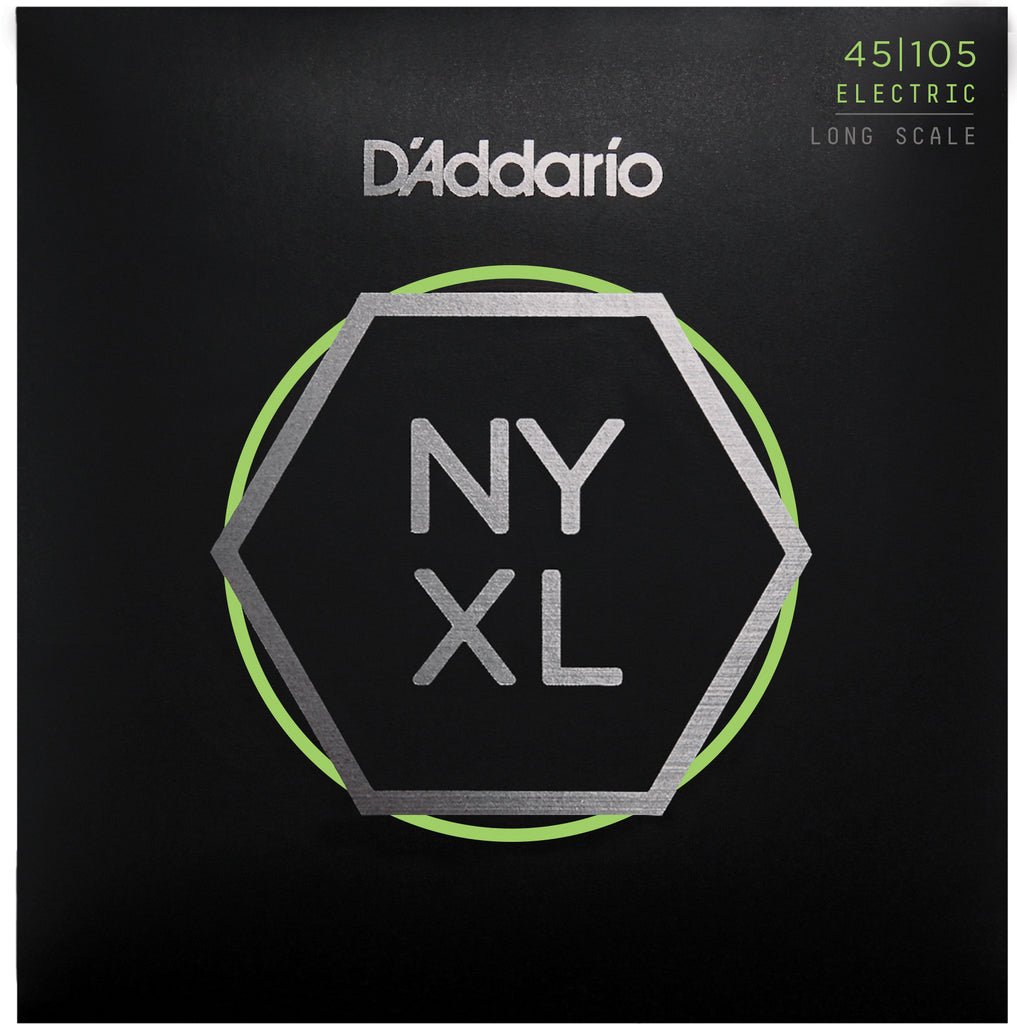 D'Addario NYXL45105 Long Scale Light Top Medium Bottom 45-105 Bass Strings