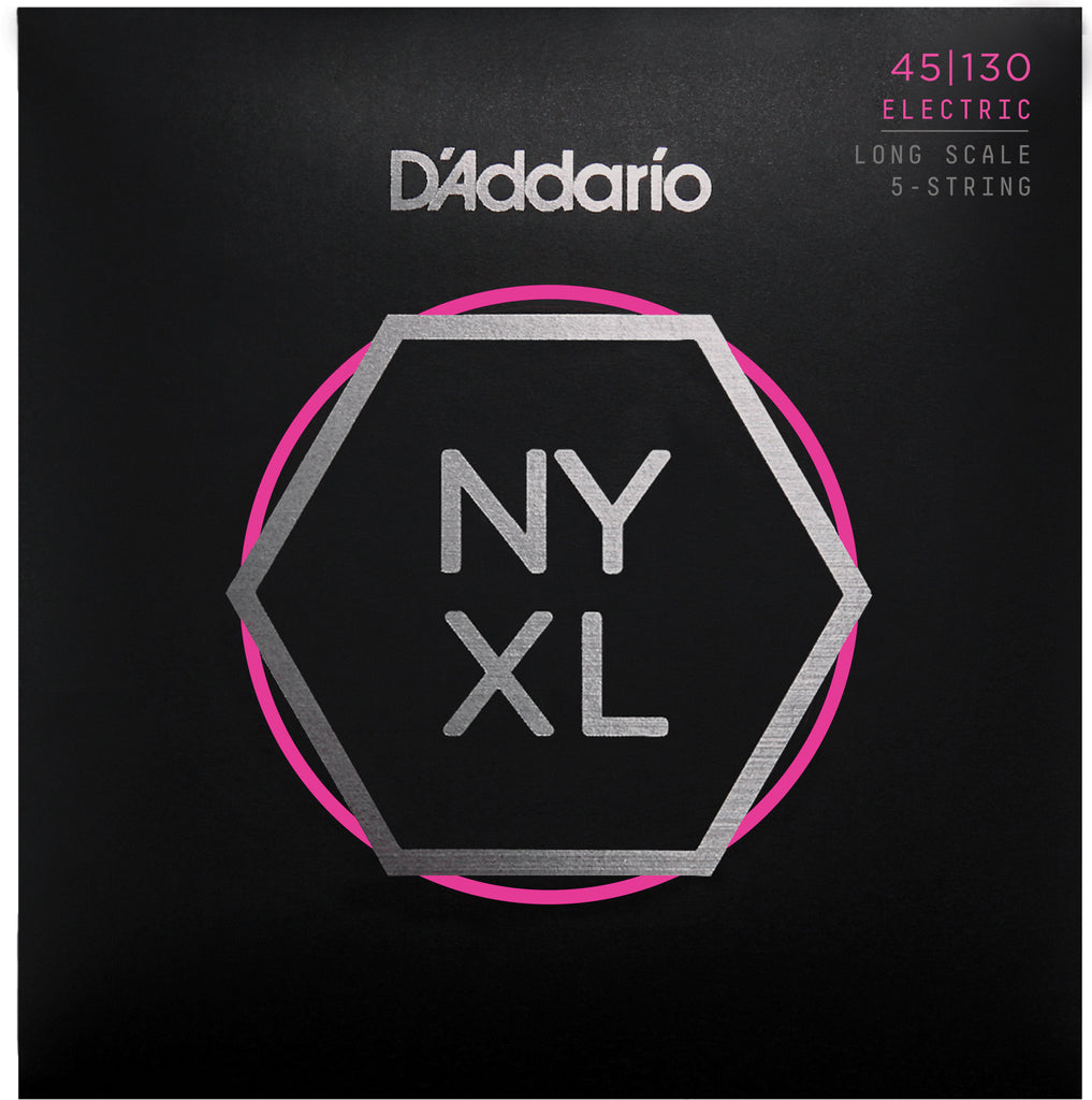 D'Addario NYXL45130 5-String Long Scale Regular Light 45-130 Bass Strings