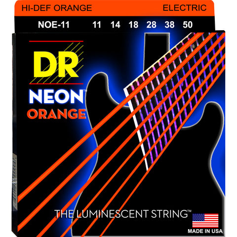 DR Strings NOE-11 Neon Hi-Def Orange Heavy 11-50 Electric Guitar Strings