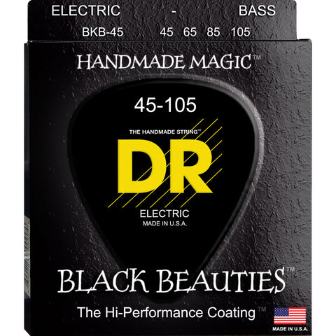 DR BKB-45 Black Beauties Medium 45-105 Bass Guitar Strings