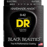3 Sets DR Strings BKE-9 Black Beauties Light 9-42 K3 Electric Strings