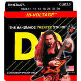 3 Sets DR Strings DBG-11 Dimebag Darrell Signature Extra Heavy, Electrics, 11-50