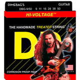 3 Sets DR Strings DBG-9/50 Dimebag Darrell Signature, 9-50, Electric Guitar Strings
