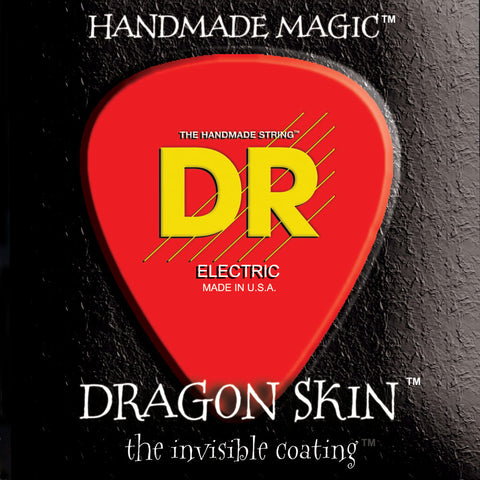 DR Strings DSE-10 Dragon Skin Medium 10-46 Long Life Electric Guitar Strings
