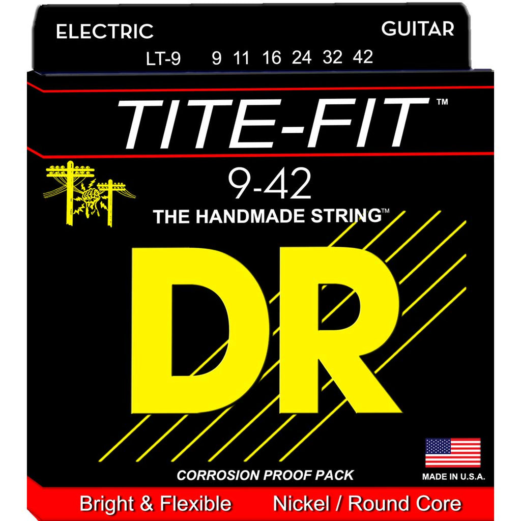 DR Strings LT-9 Tite-Fit Light 9-42 Electric Guitar Strings