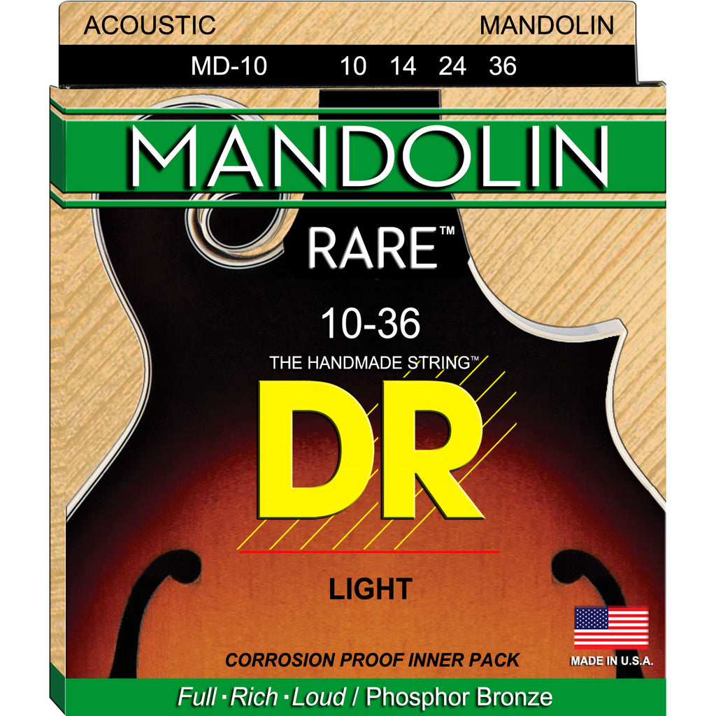 DR Strings MD-10 Rare Mandolin Light Phosphor Bronze Strings