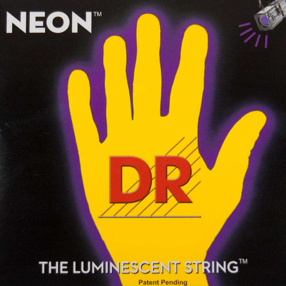 DR Strings NYB5-45 Hi Def Neon Yellow 5-String Medium 45-125 Bass Guitar Strings